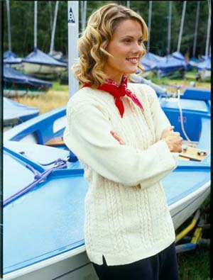 Pattern Ref # Dickie G002 Ladies traditional Guernsey